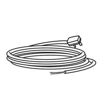 Trend 2 core cable with plug 230V euro T31/EURO